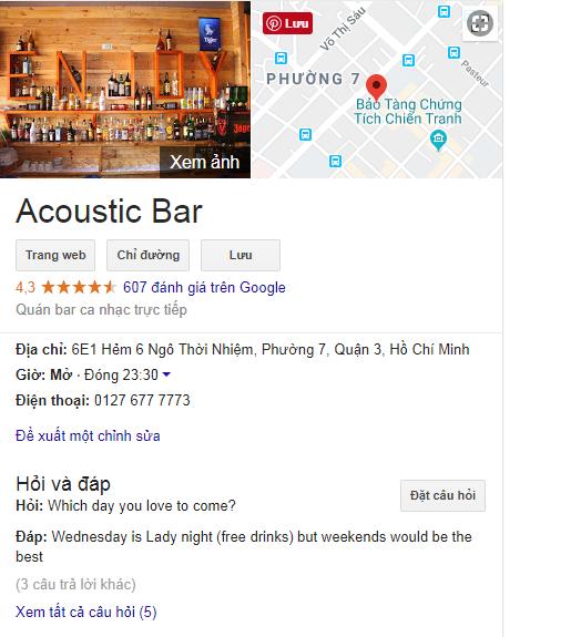 cafe bar google map
