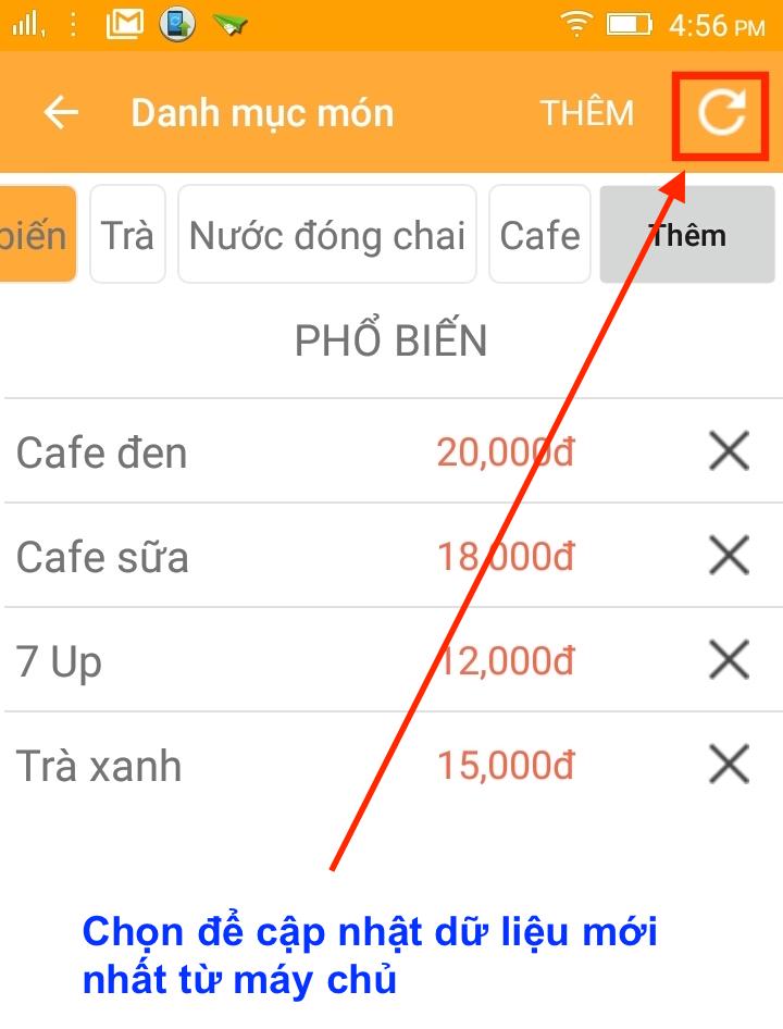 Cài đặt thực đơn và sơ đồ bàn cho PosApp