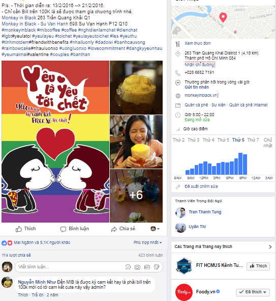 quảng cáo facebook quán cafe