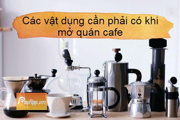 vật dụng quán cafe