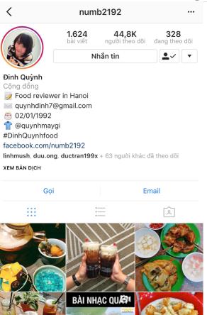 quảng cáo nhà hàng trên instagram