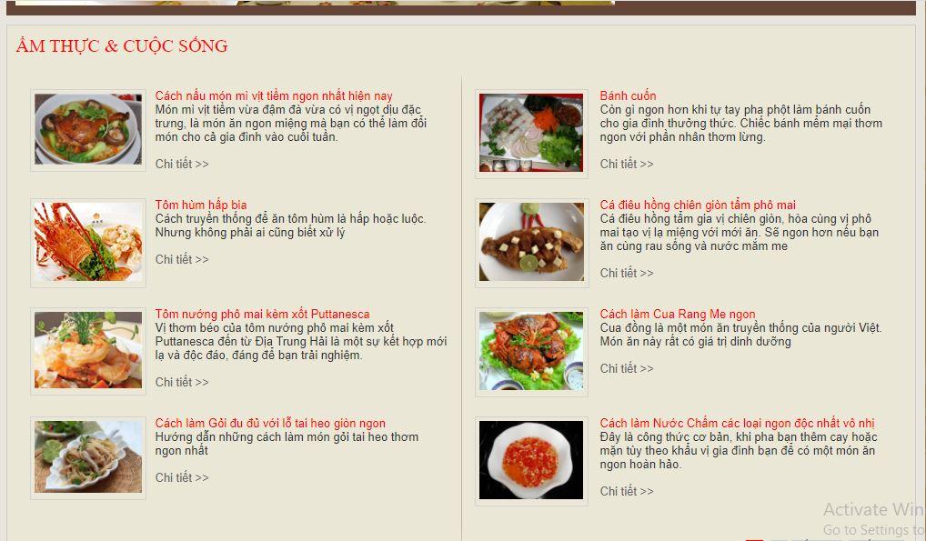 trang web