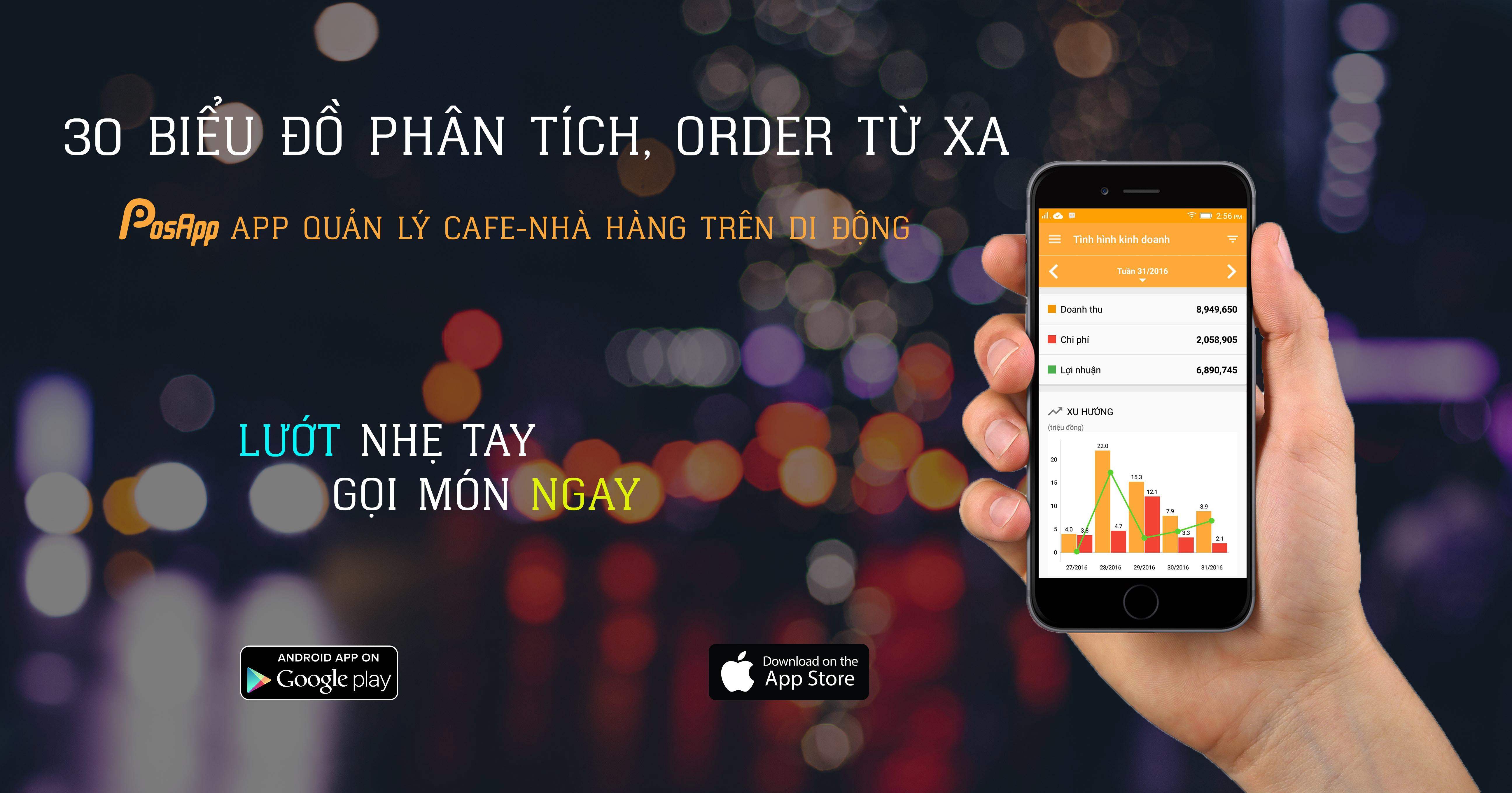 ứng dụng quản lý quán cafe trên điện thoại Android