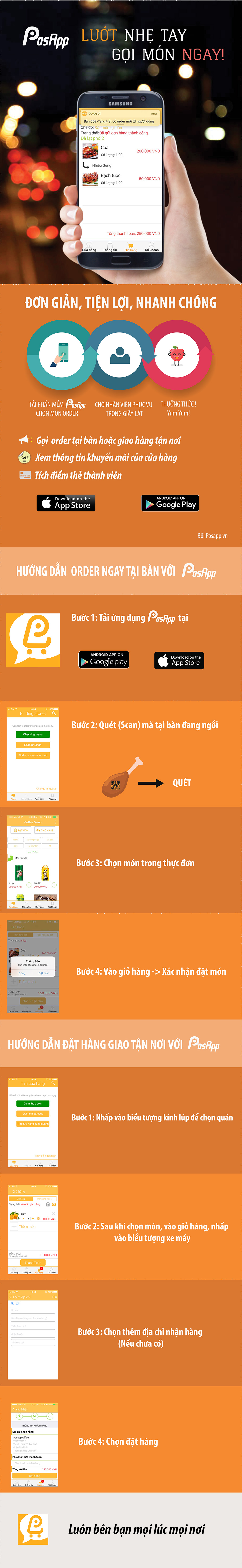 ứng dụng dành cho khách hàng Posapp
