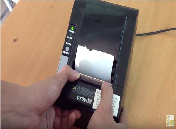 máy in hoá đơn không tự động cắt giấy