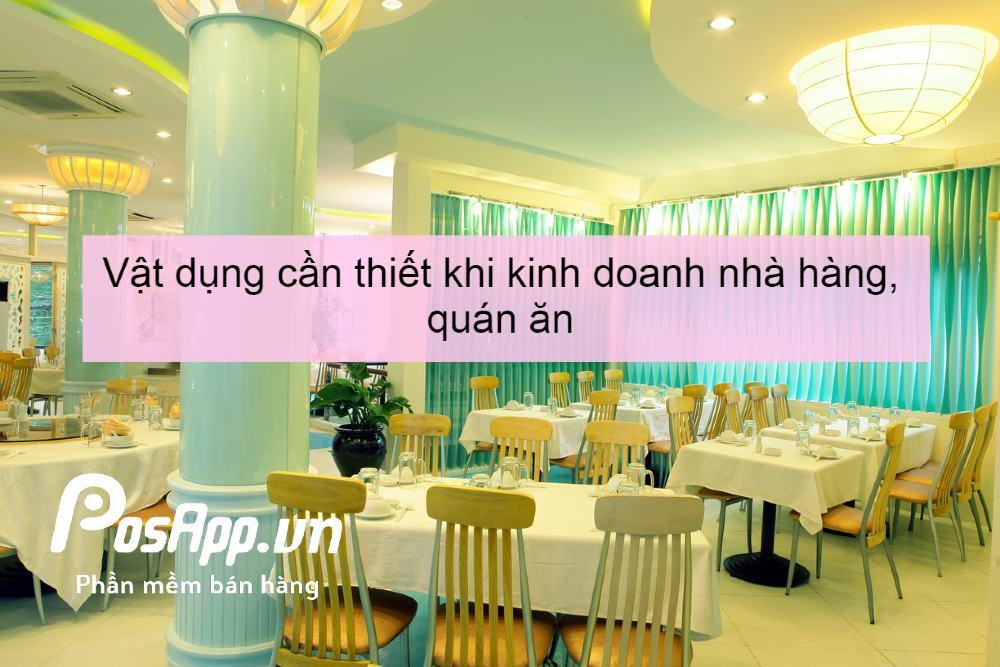 vật dụng kinh doanh nhà hàng, quán ăn