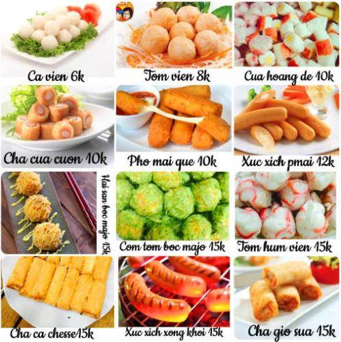 định giá đồ ăn vặt
