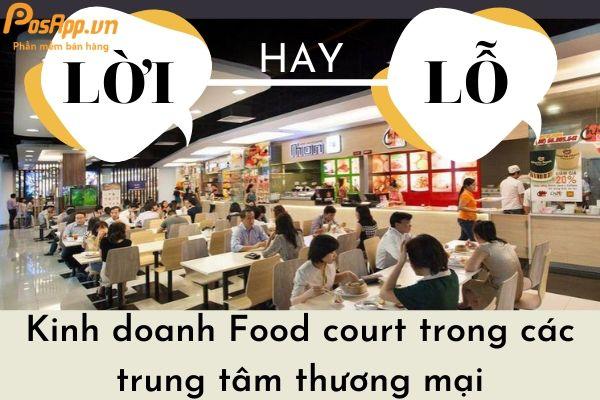 kinh doanh food court trong trung tâm thương mại
