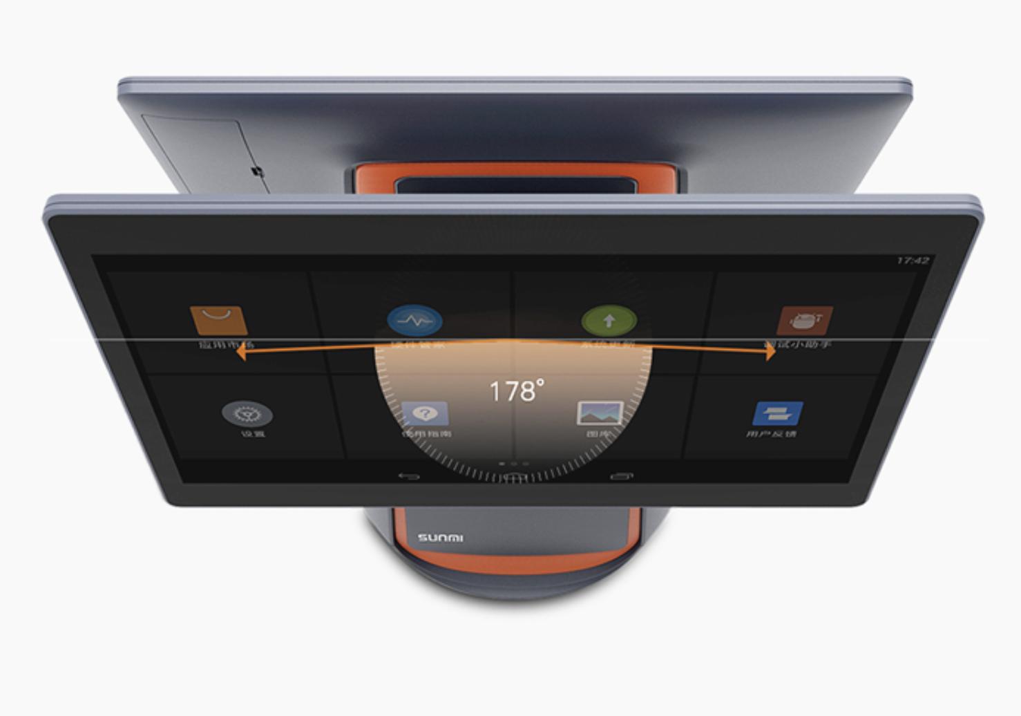 Máy POS tính tiền cảm ứng Sunmi T1 2 màn hình - ảnh 2