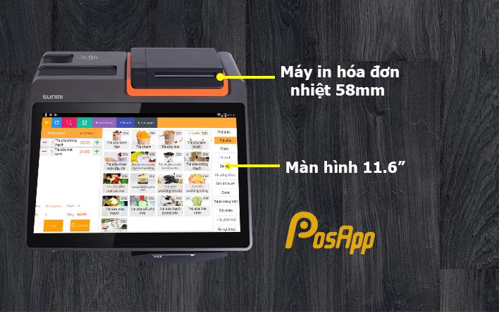 máy POS tính tiền cảm ứng