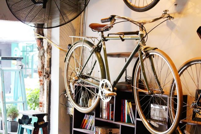cafe xe đạp