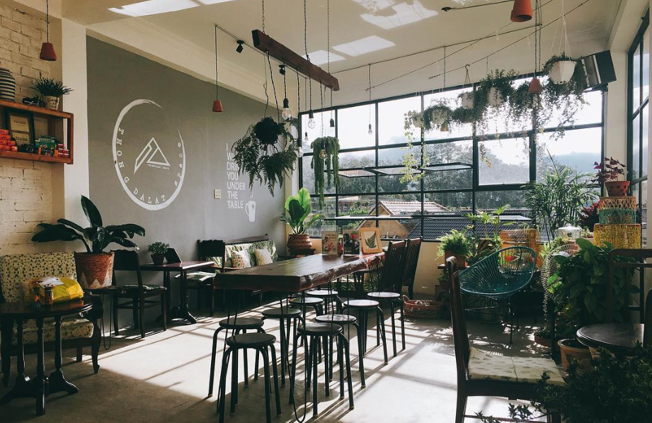 trang trí quán cafe