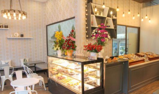 mặt bằng kinh doanh tiệm bánh ngọt