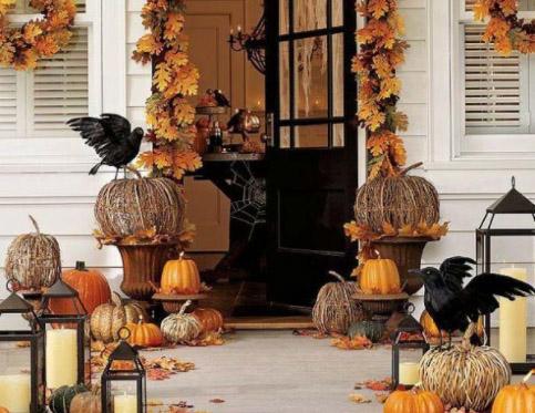 trang trí halloween cho quán cafe nhà hàng