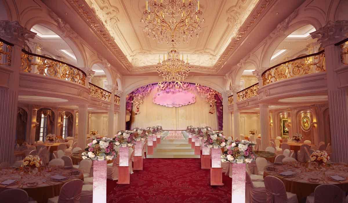 sảnh nhà hàng tiệc cưới