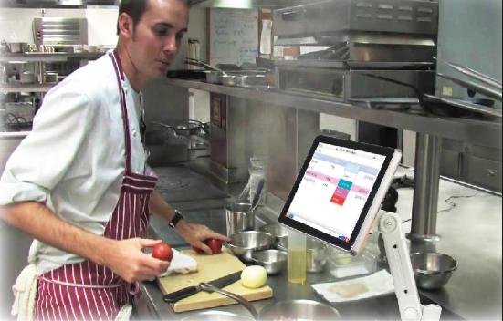 màn hình bếp bar