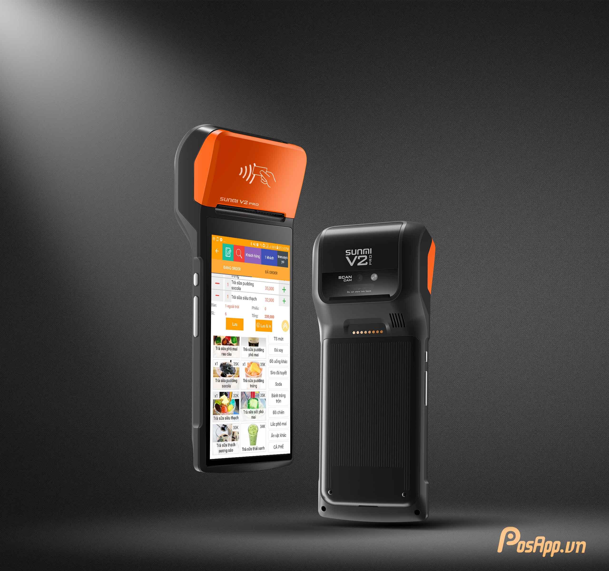 Máy POS bán hàng cầm tay PosApp V2 tích hợp máy in