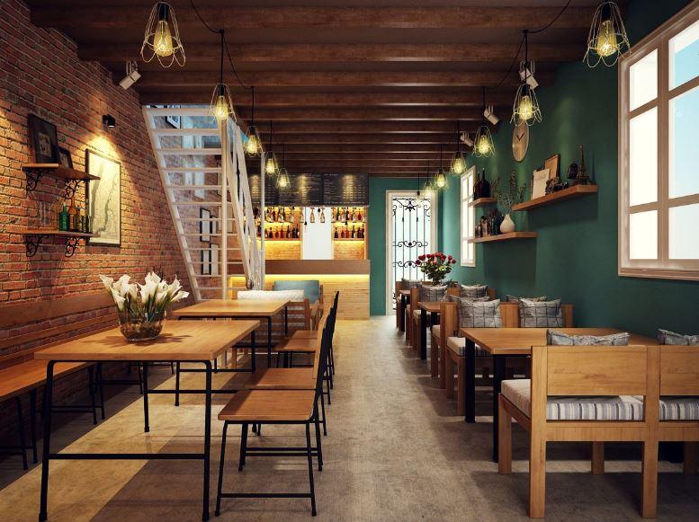 không gian quán cà phê