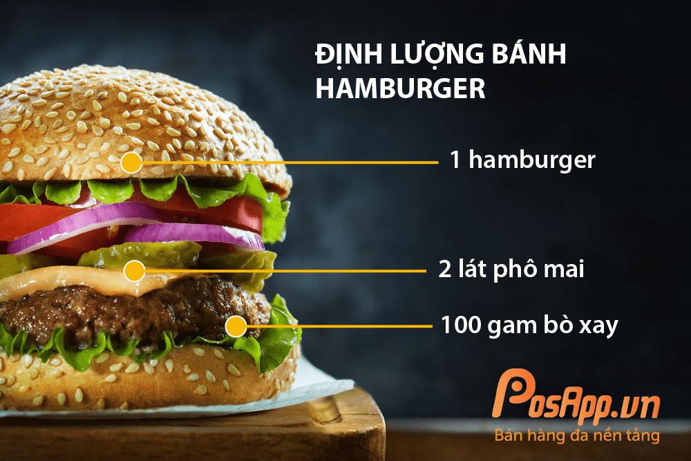 định lượng fastfood