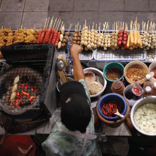 quán ăn đường phố