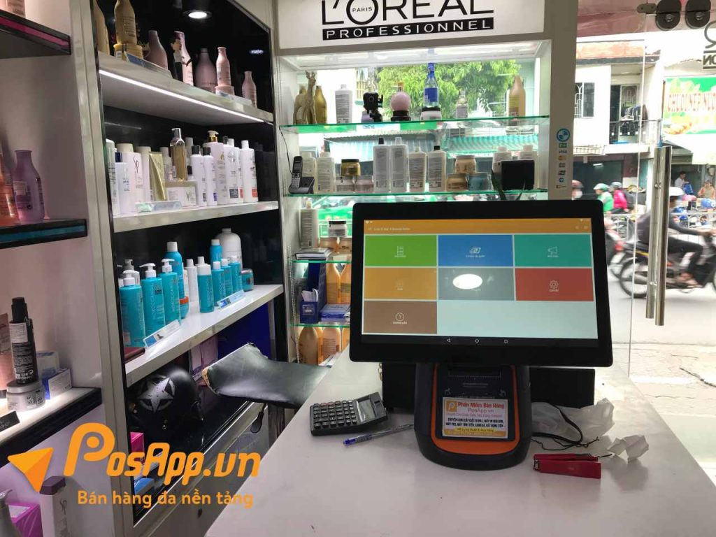 phần mềm posapp tại LinhR salon