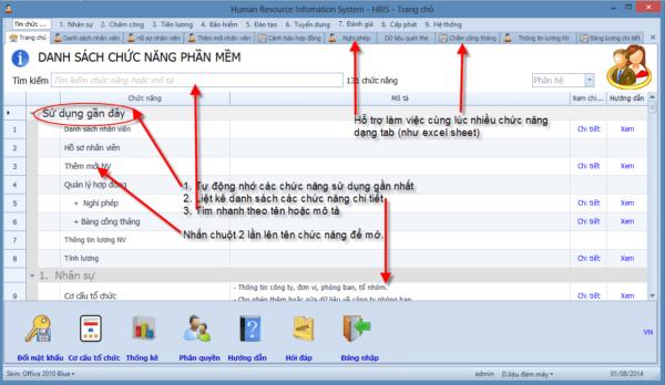 Phần mềm quản lý nhân sự SV-HRIS