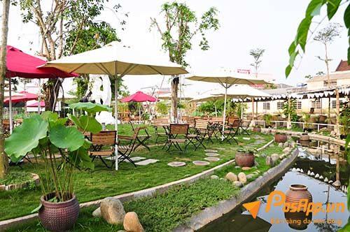 cafe sân vườn độc đáo