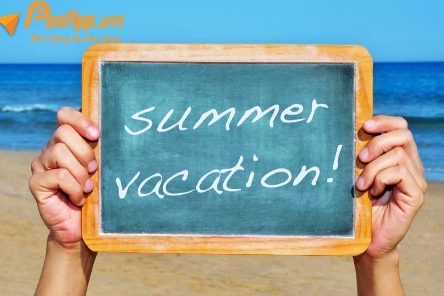 thông báo lịch nghỉ du lịch hè