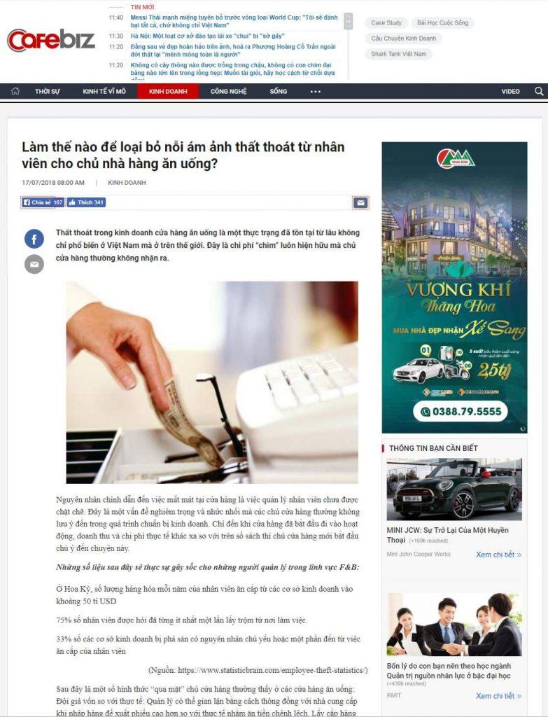 PosApp trên báo cafebiz