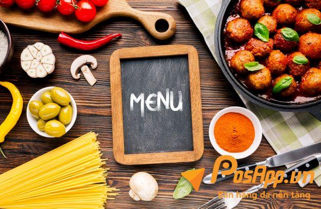 menu đồ ăn vặt đơn giản