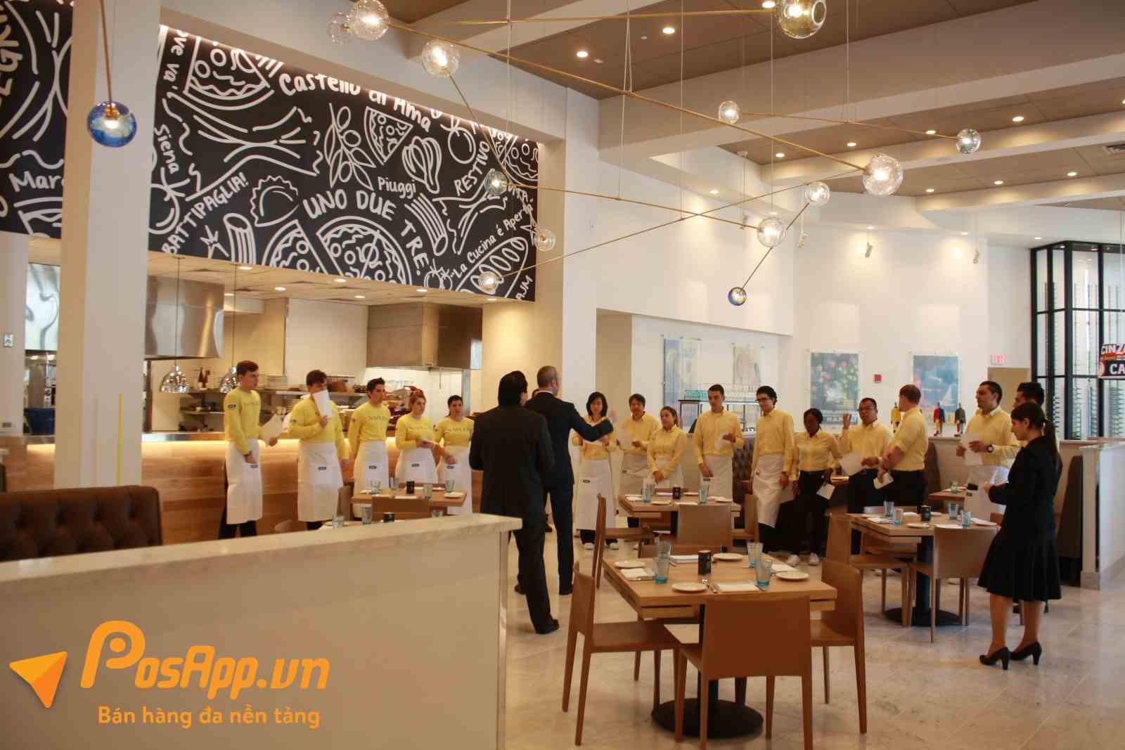 quy trình quản lý nhà hàng, quán ăn