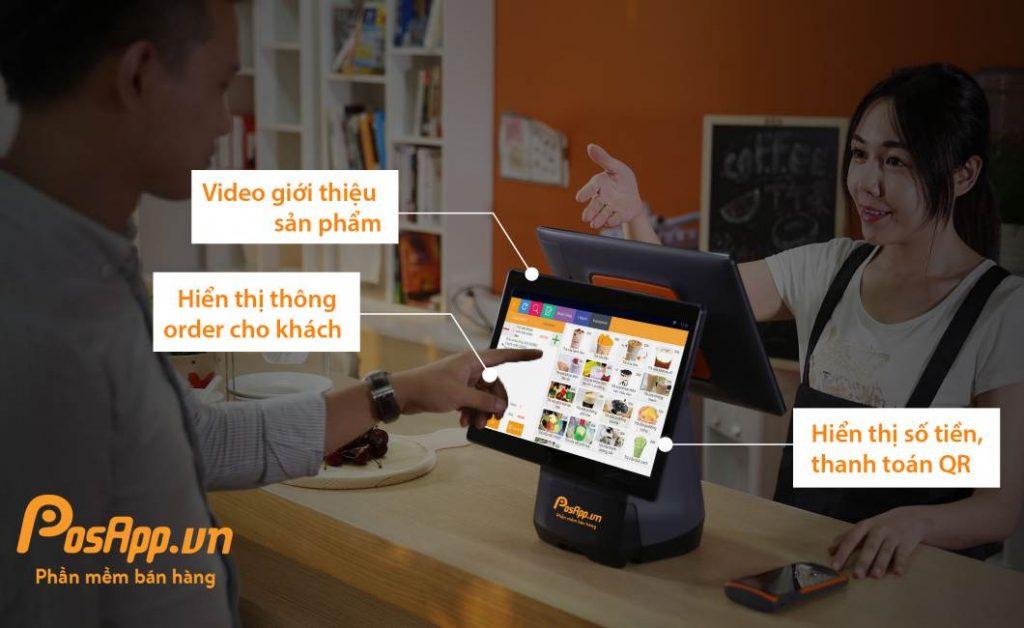 máy PosApp T2 2 màn hình
