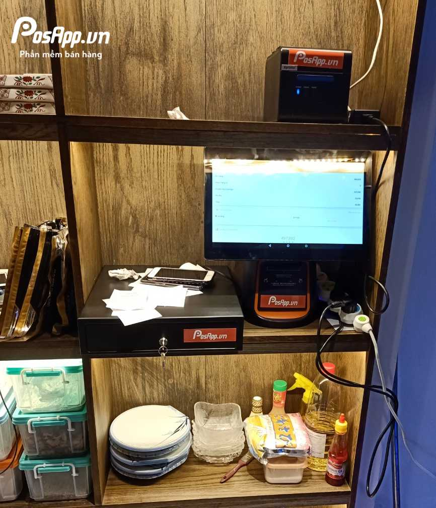 phần mềm PosApp tại nhà hàng happy fish