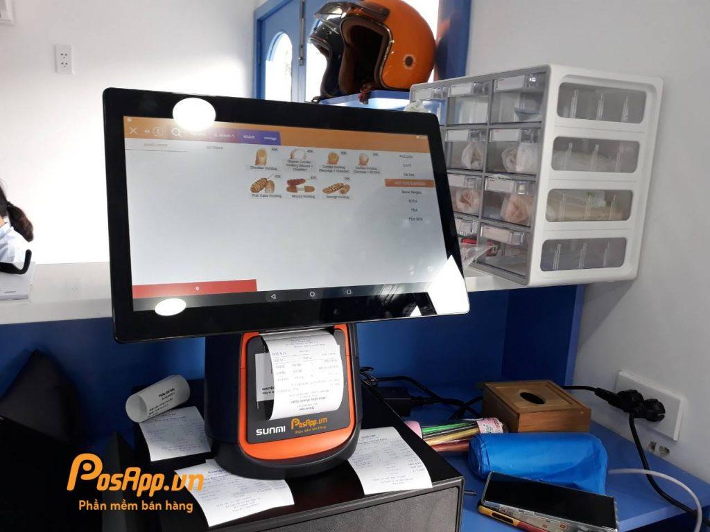 phần mềm máy pos tại ssong hotdog
