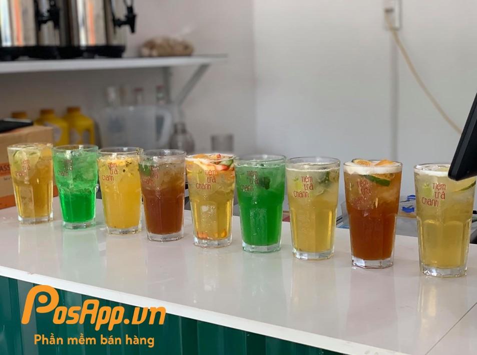 menu trà chanh 68