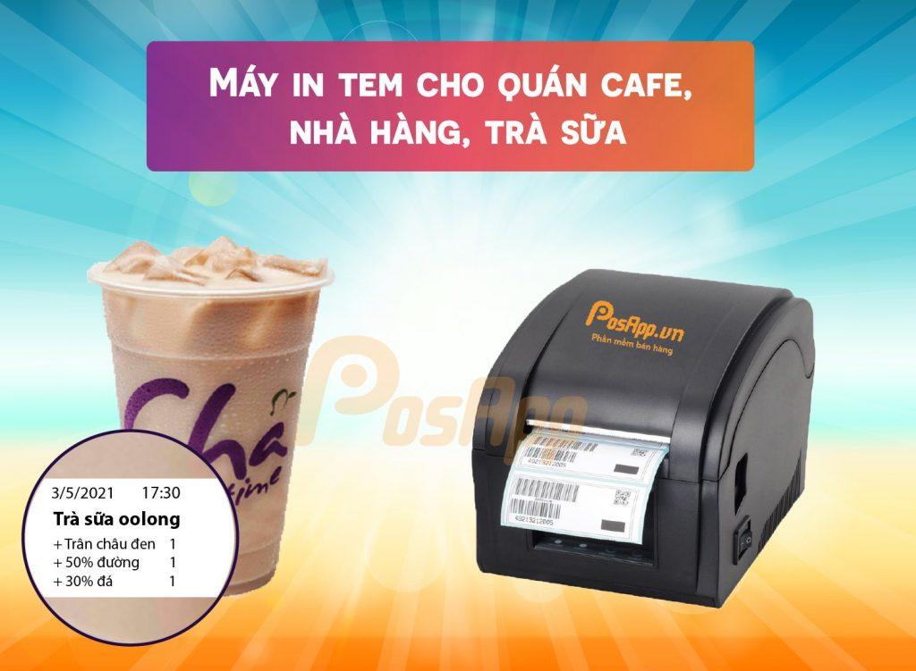 máy in tem trà sữa
