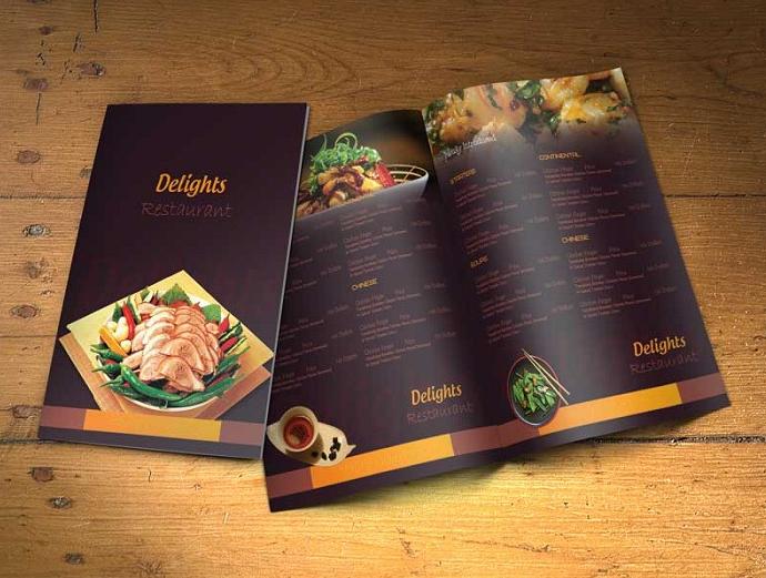 menu giấy