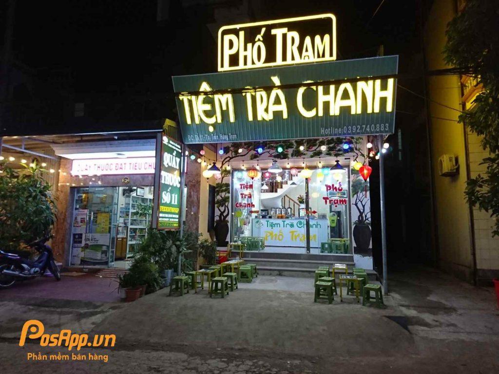 tiệm trà chanh phố trạm