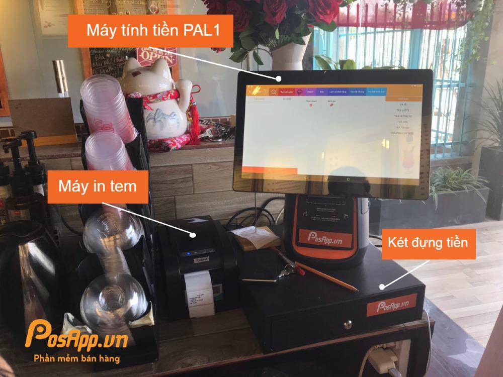 Trọn bộ máy tính tiền tại  ANH Coftea & Signatures