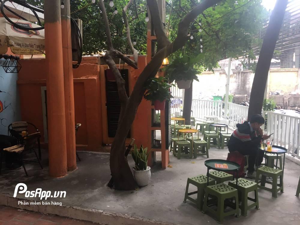 không gian tiệm trà chanh