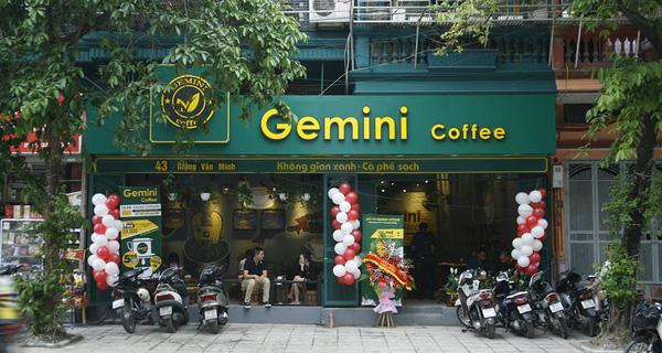 nhượng quyền Gemini Coffee