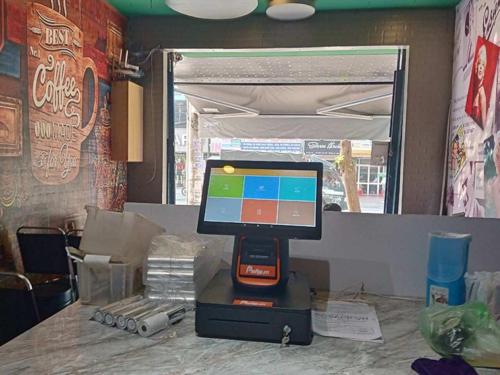 Máy bán hàng thu ngân PAL1 và phần mềm quản lý quán cafe PosApp tại Ho Lee Quán