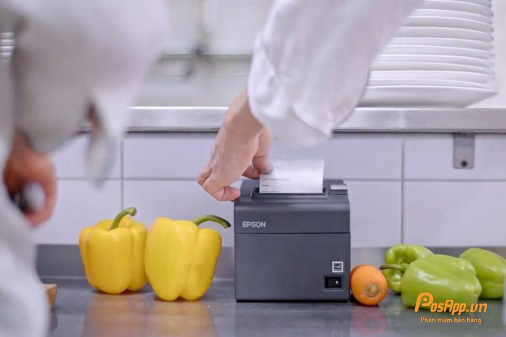 máy in nhà bếp