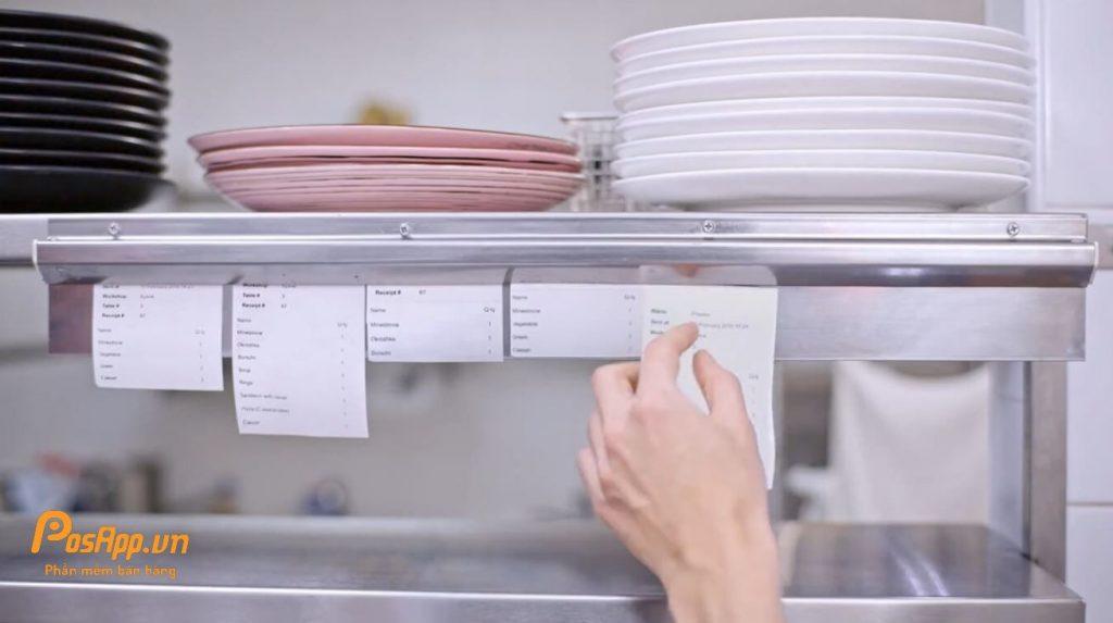 máy in order bếp