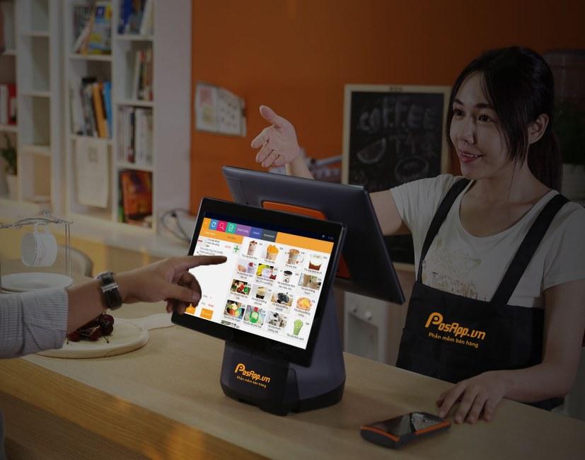 menu điện tử máy tính tiền 2 màn hình