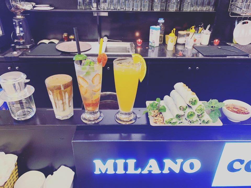 Menu phong phú tại Milano Coffee Quốc Oai