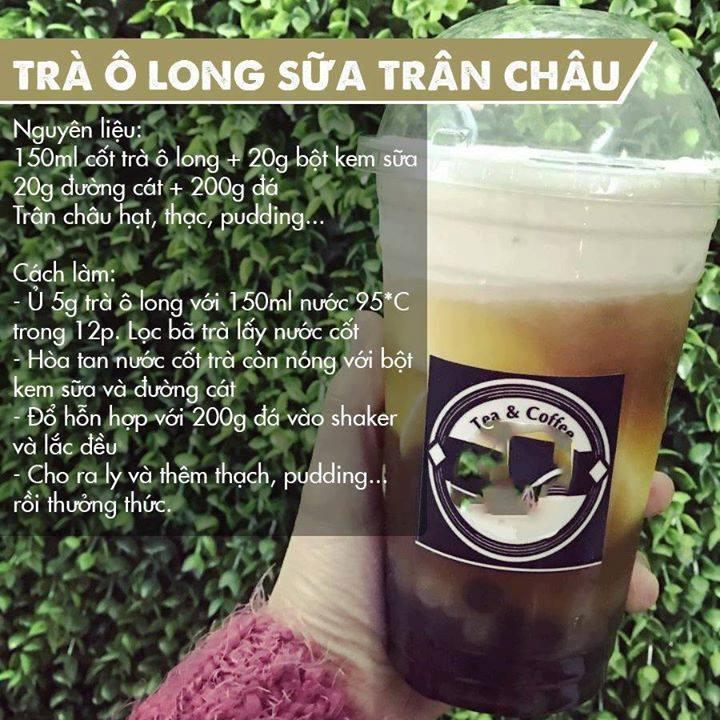 Cách làm trà ô long sữa trân châu cực đơn giản