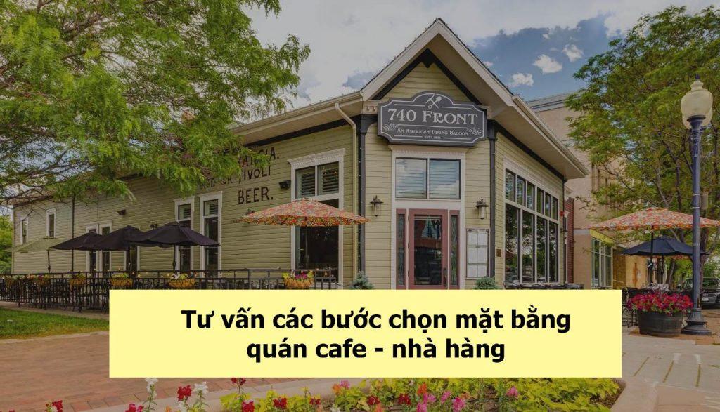 mặt bằng quán cafe- nhà hàng