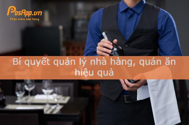 bí quyết quản lý nhà hàng quán ăn