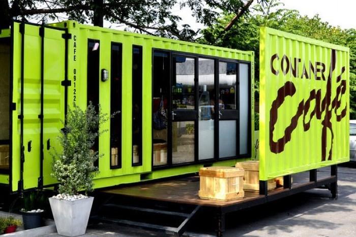 mô hình cafe container độc đáo